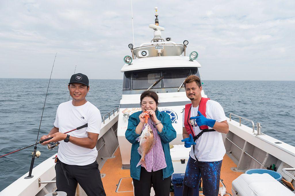攝津正と筆者と船長