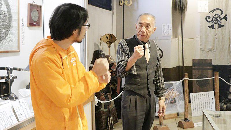 川越歴史博物館の館長さんと地主