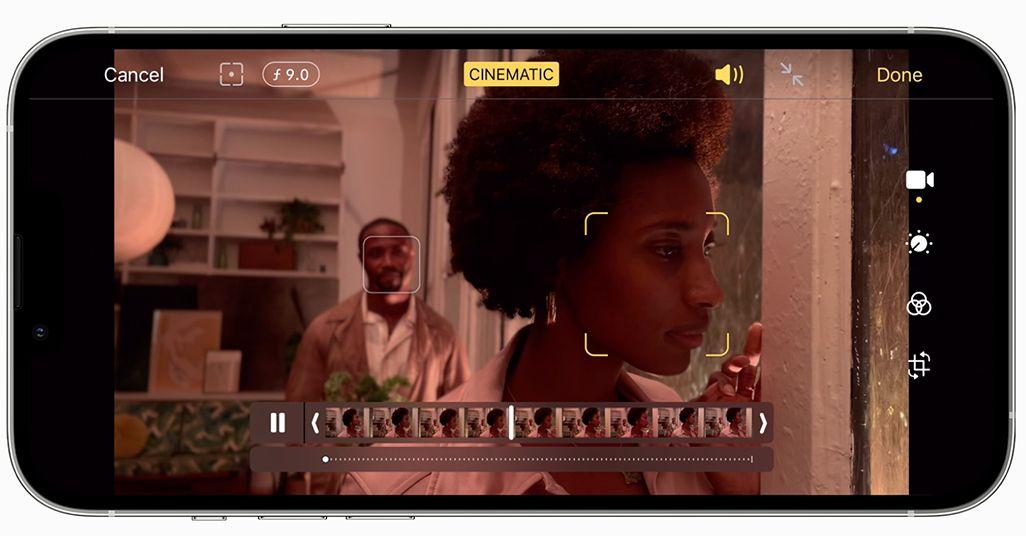 iPhone 13シリーズのシネマティックモード