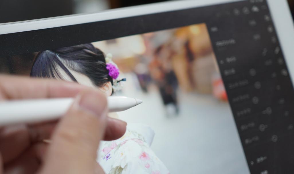 iPad Proをペンで写真編集