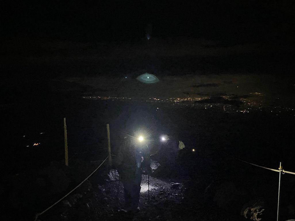 深夜の富士登山