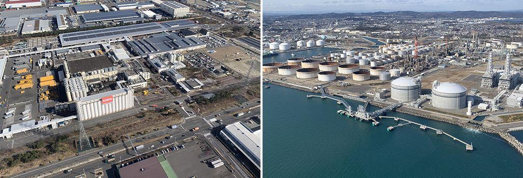復興を果たしたキリンビール仙台工場と新仙台火力発電所