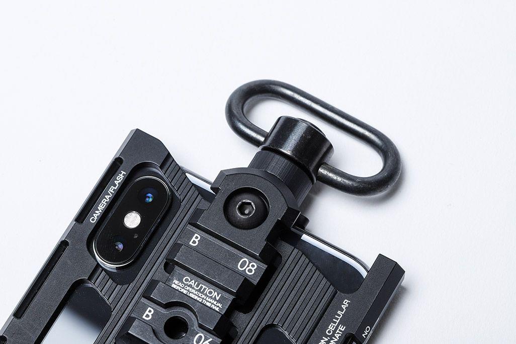 カトキハジメiPhoneケース「RAILcase」QD変換アダプターにQDパーツを装着
