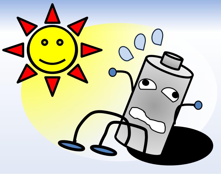 ばてる電池のイメージ
