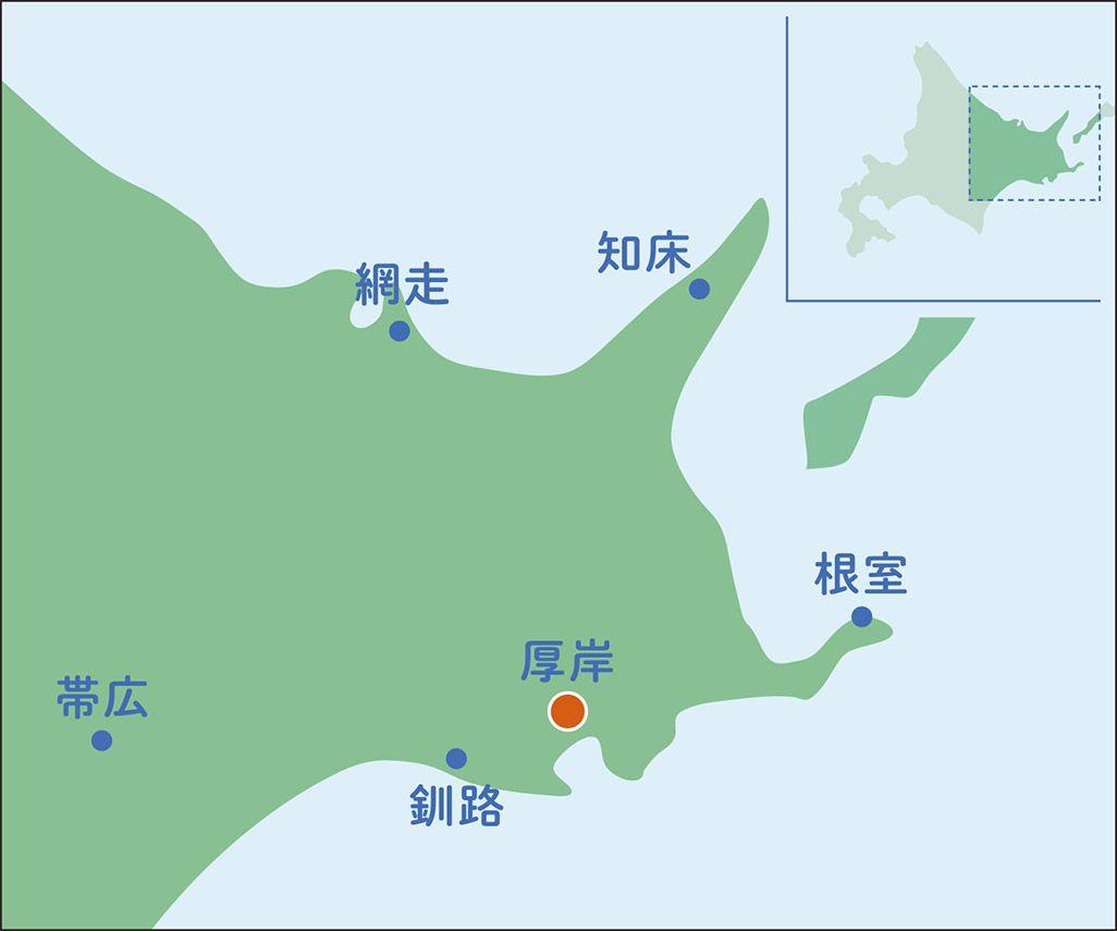 厚岸のマップ