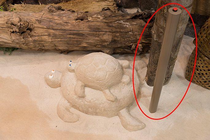 お台場・浦ちゃんの家の室内にいる砂でできた親子亀