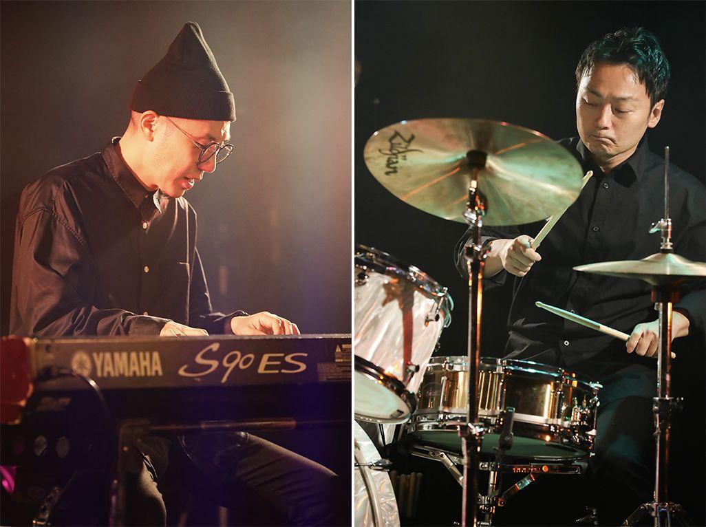ギター・大賀好修さん、ベース・麻井寛史さん、ドラム・車谷啓介さん、キーボード・大楠雄蔵さん