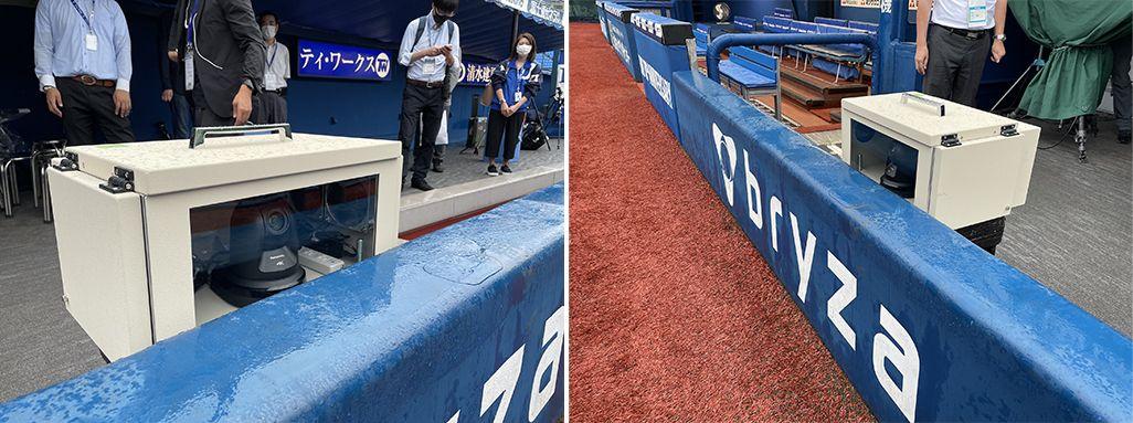 「ベイスターズプライムカメラ」の1塁側追いカメラ