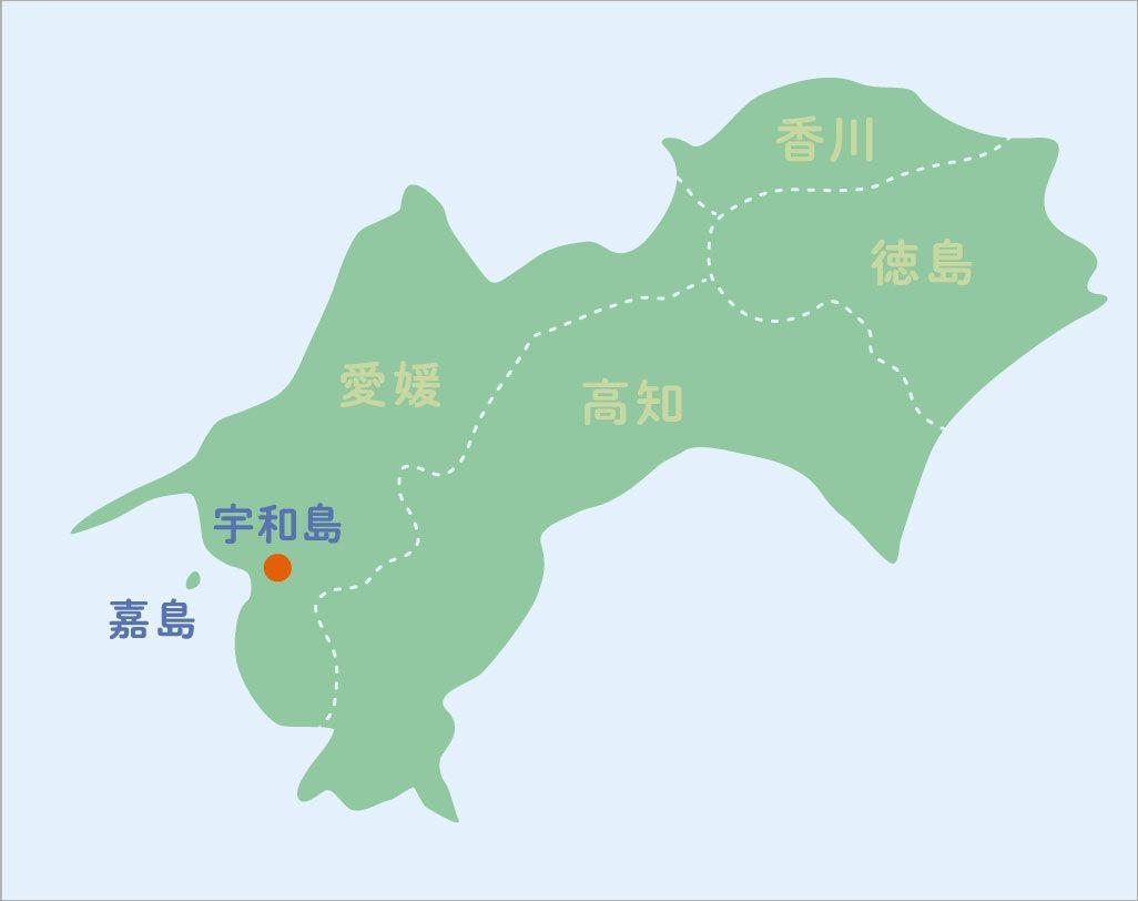 愛媛県宇和島の地図