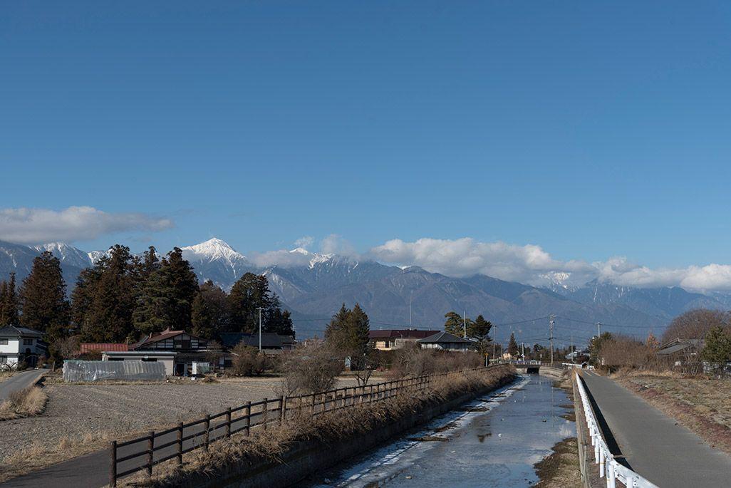 長野県安曇野市の風景