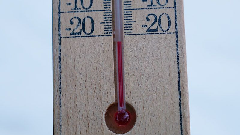 マイナス20℃を下回る温度計