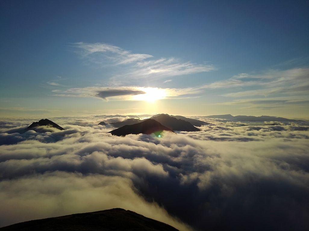 谷川岳を登山中の田中陽希さん