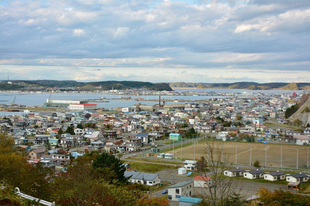 北海道厚岸の街並み