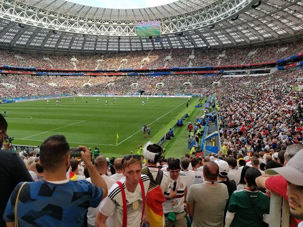 ワールカップ、ドイツ戦のスタジアム