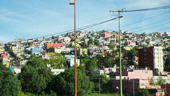 メキシコのカラフルな街並み