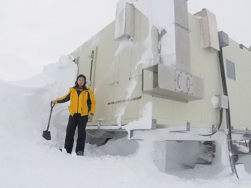 第58次南極越冬隊員のKDDI笹栗隆司