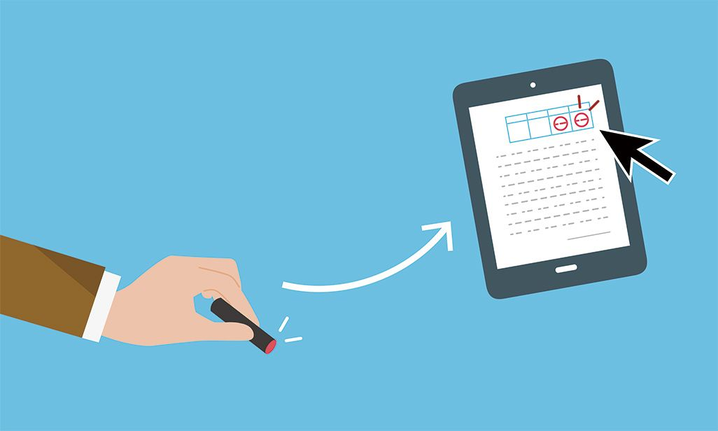 電子署名、電子印鑑イメージ図
