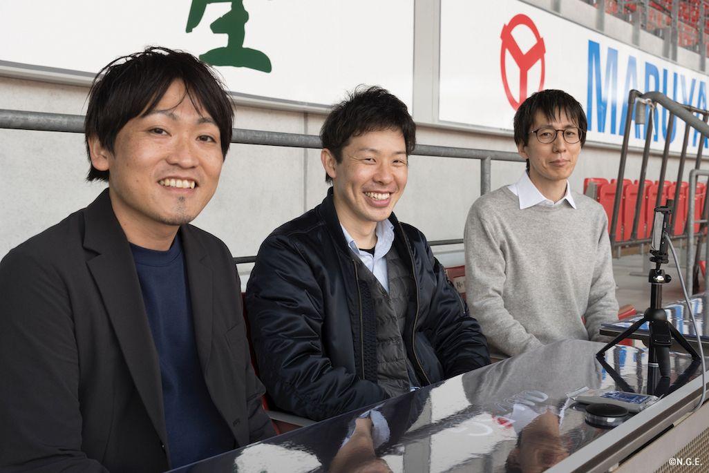 KDDIの山口昌志、篠田真也、山田健太