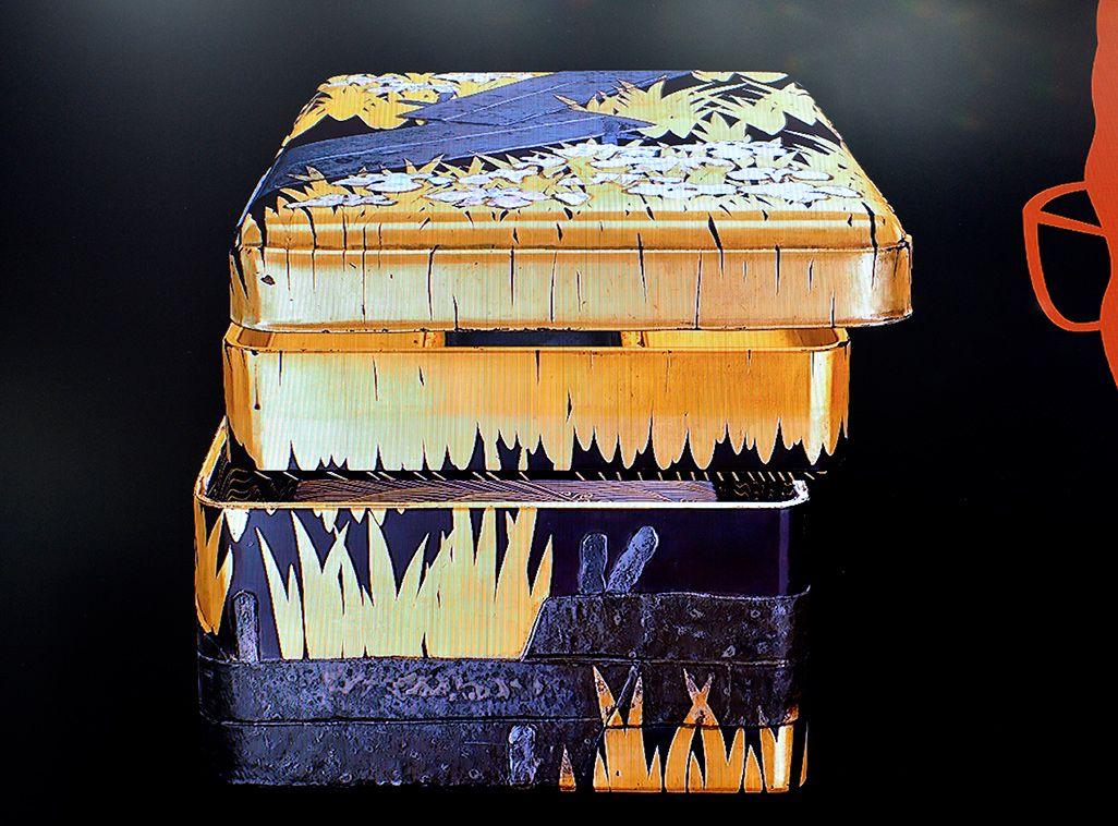 Nrealのスマートグラス内に現れる国宝の硯箱