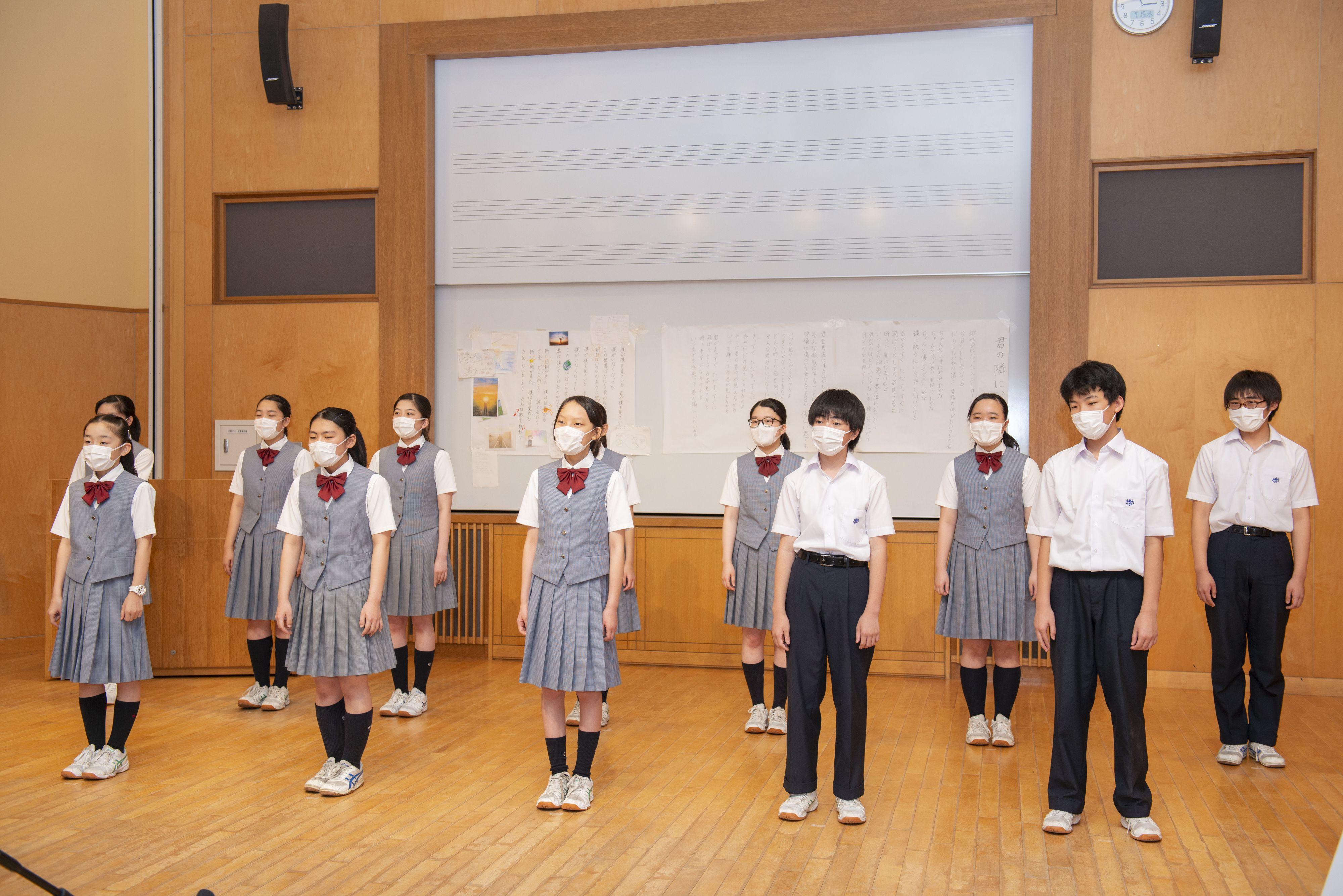 桐光学園合唱部の合唱映像収録の模様