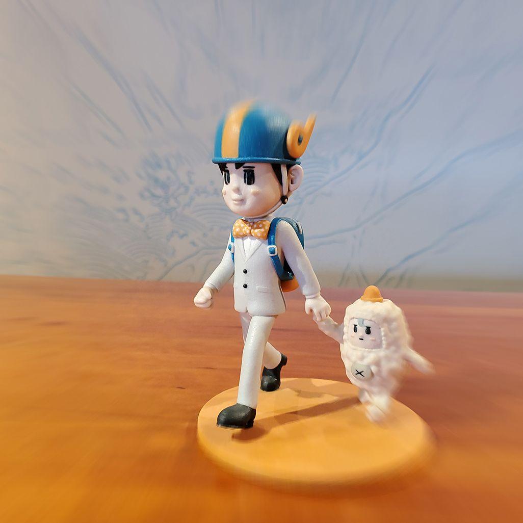 大ちゃん人形で撮影した「ズームボケ」