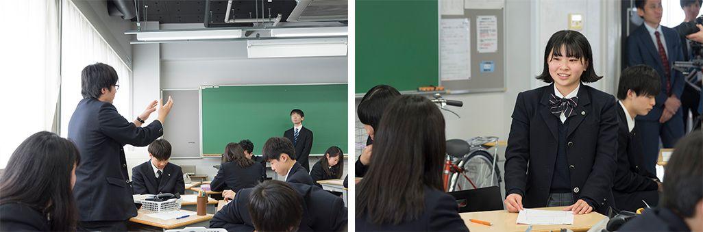 鶴見大学附属高等学校での「ワークショップ」の様子