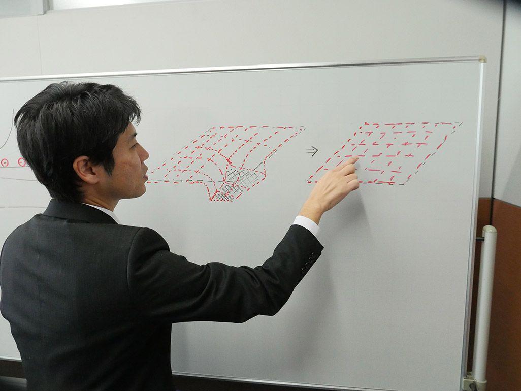 タッチパネルの電荷の変化を解説する尾笹健一