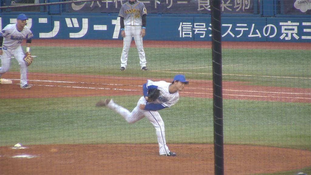「ベイプラ」の投手3塁側カメラ