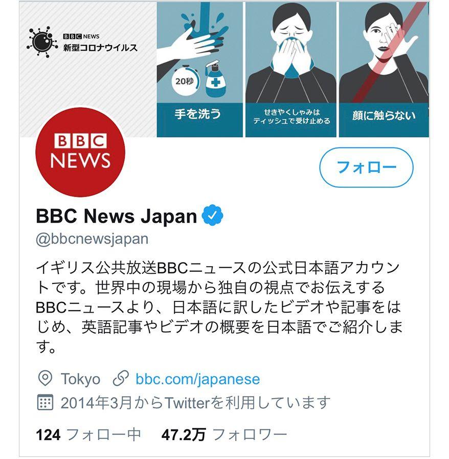 BBC News JapanのTwitter