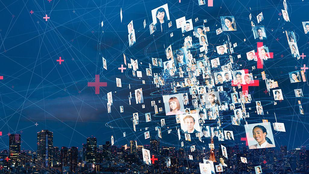 個人情報がビジネスに活用されているイメージ