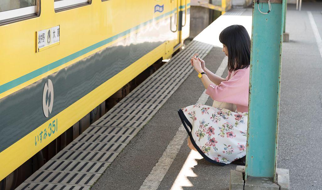 いすみ鉄道「大原駅」のホーム