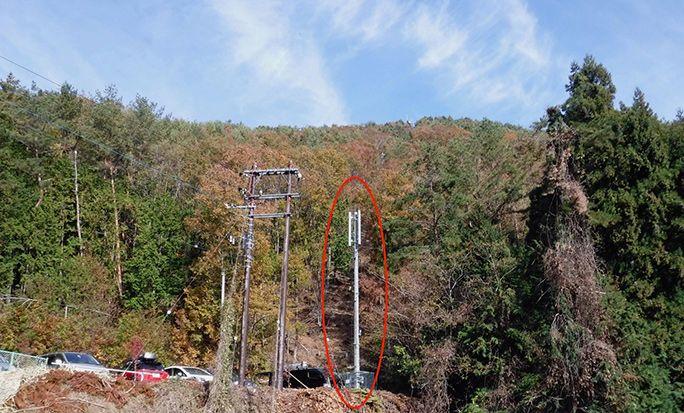 キャンプ場の基地局の例