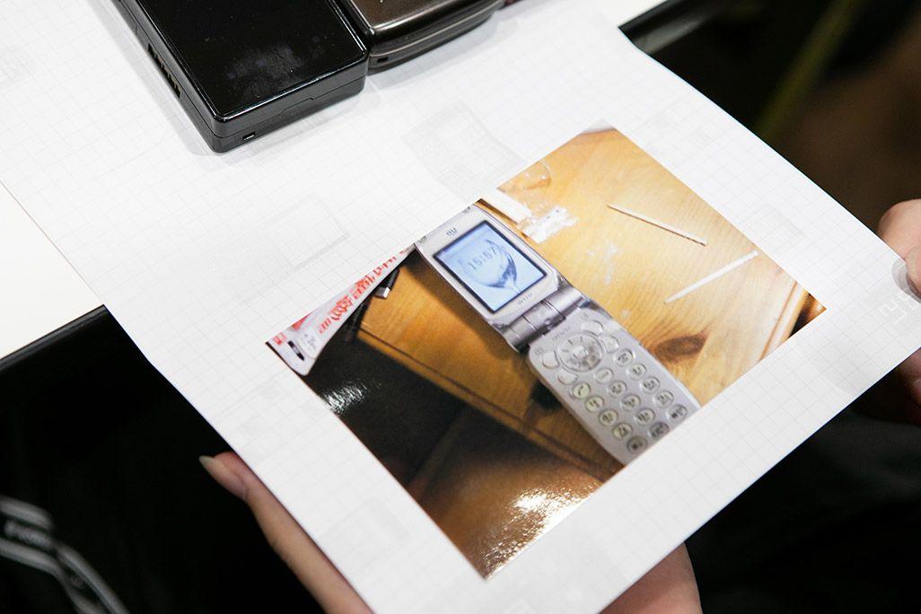 「おもいでケータイ再起動」で復活したガラケーから出てきたガラケーの画像