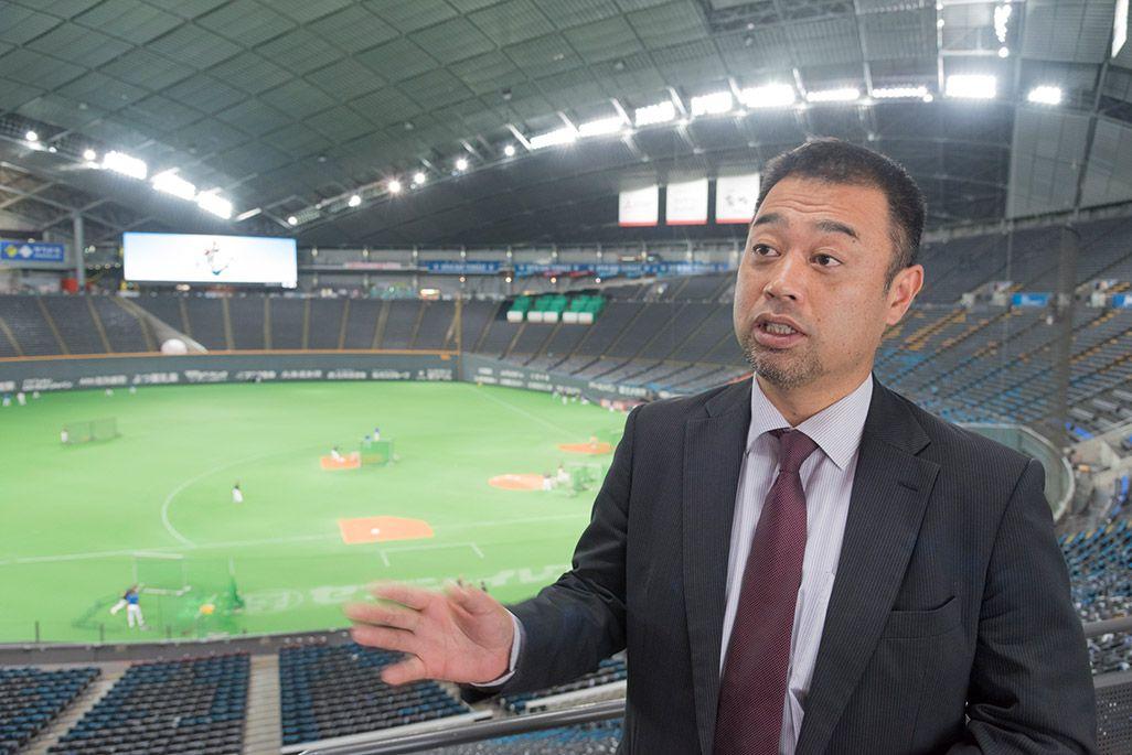 北海道日本ハムファイターズのゲストリレーション部部長・森野貴史氏