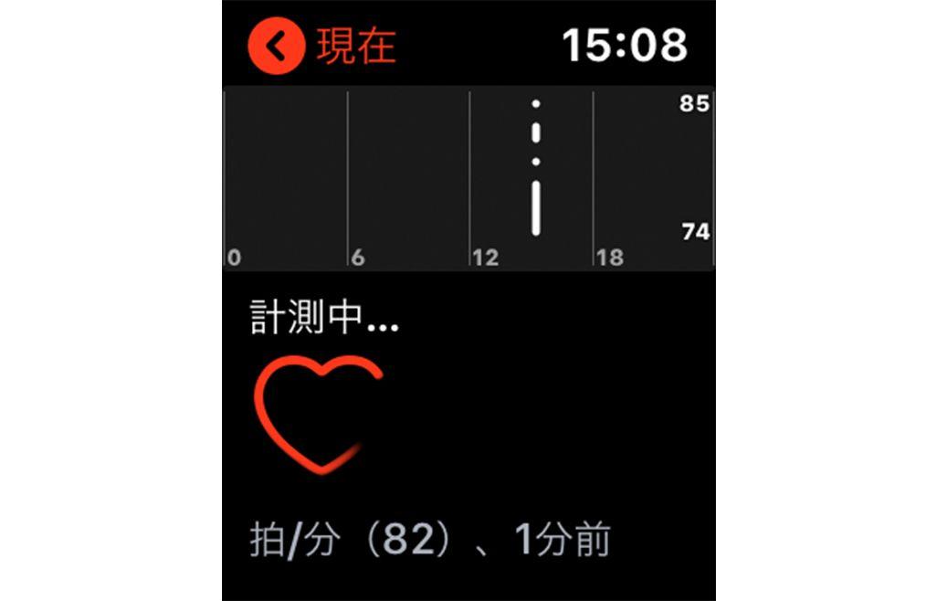 Apple Watchで脈拍測定を測定
