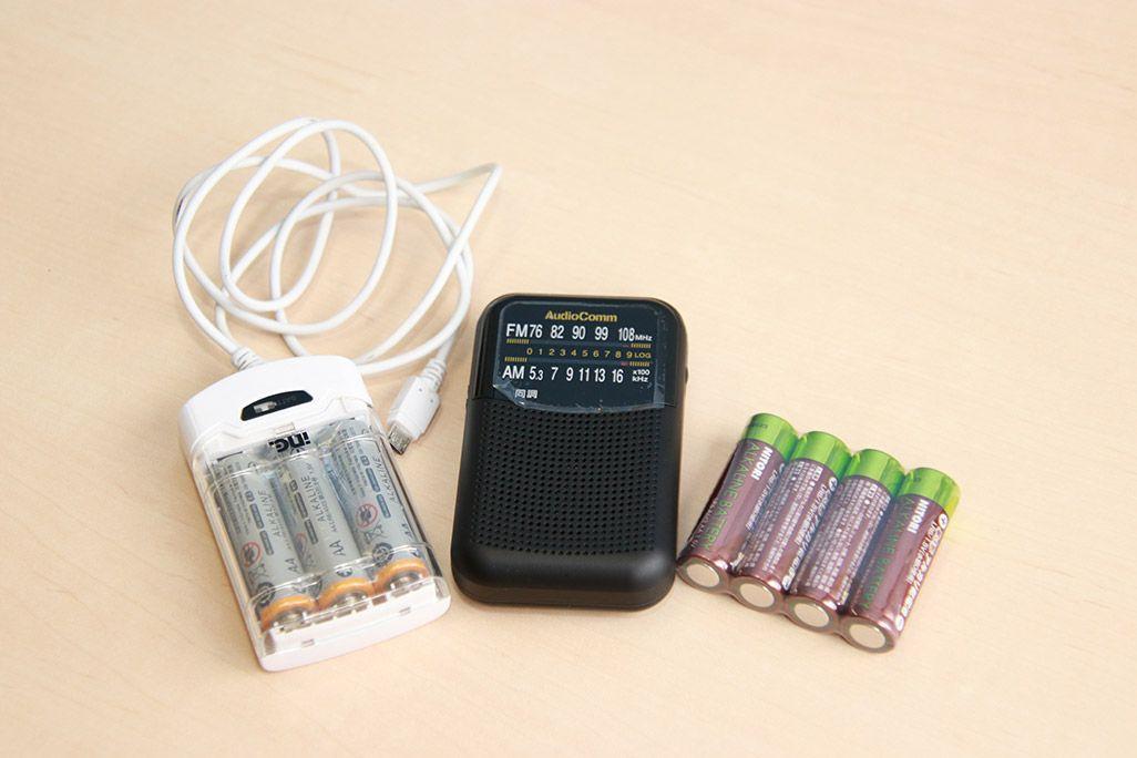 災害時に役立つ乾電池式充電器
