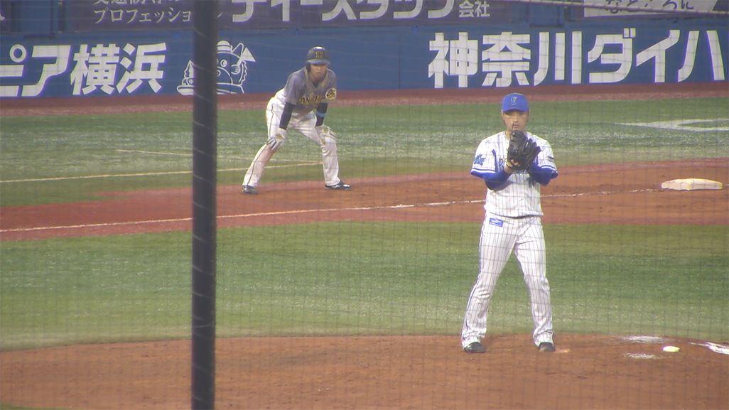 「ベイプラ」の投手1塁側カメラ