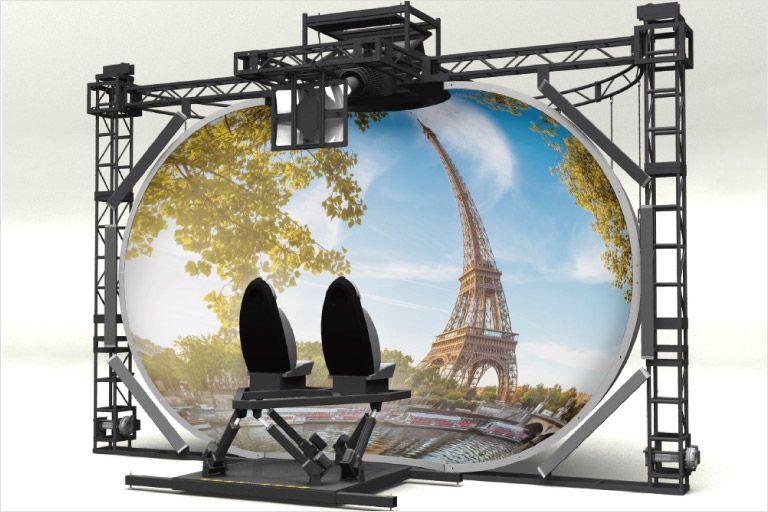 ワンダービジョンテクノラボラトリー社が開発した球体スクリーン型VR「WV Sphere 5.2」