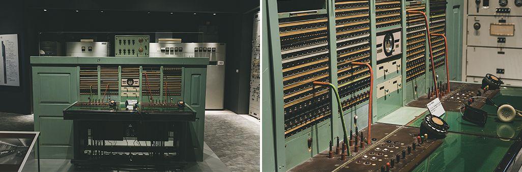 1957年に製造された短波国際電話回線の有紐交換台