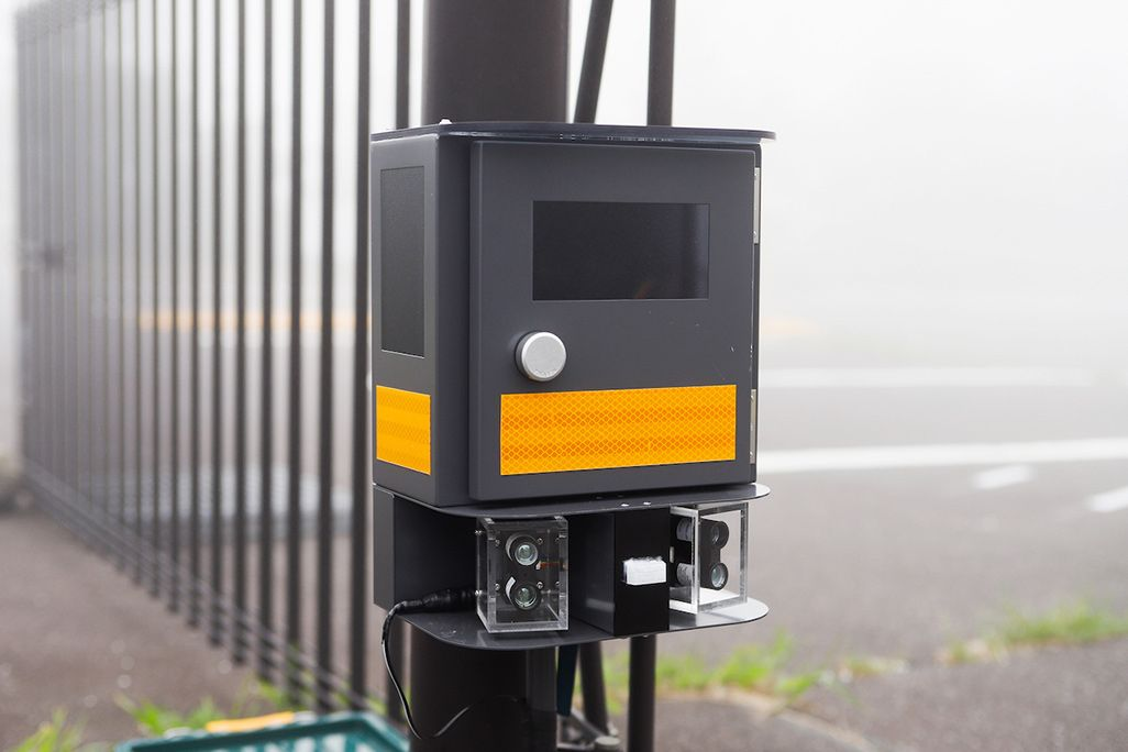 御殿場口駐車場に設置されたセンサー