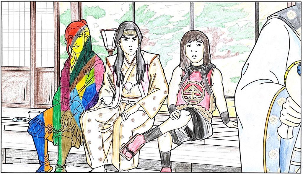三太郎作のぬり絵