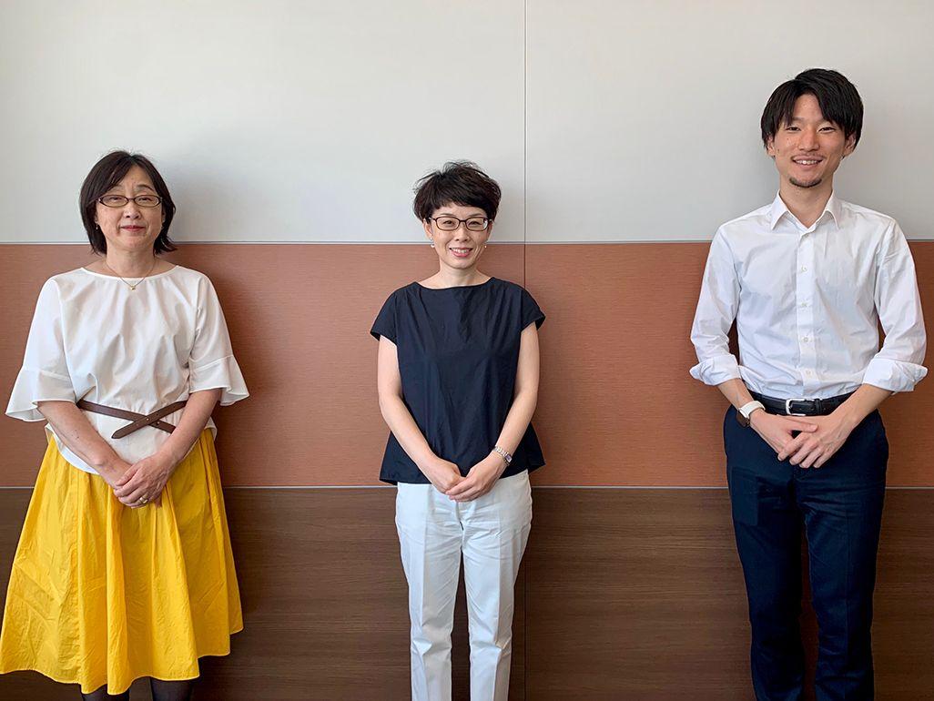 KDDI サステナビリティ推進室の海崎千恵子、日野有子、澤谷賢太