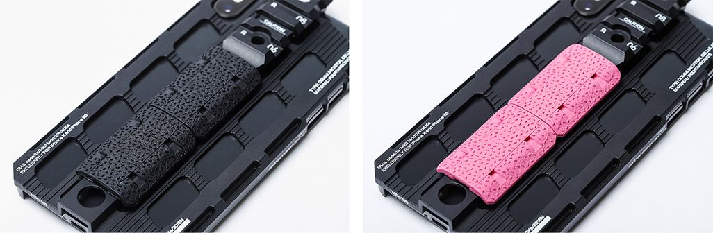 カトキハジメiPhoneケース「RAILcase」ハンドガード装着