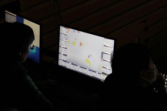 ボルダリング・ジャパンカップ会場に設置された自由視点VR用サーバ