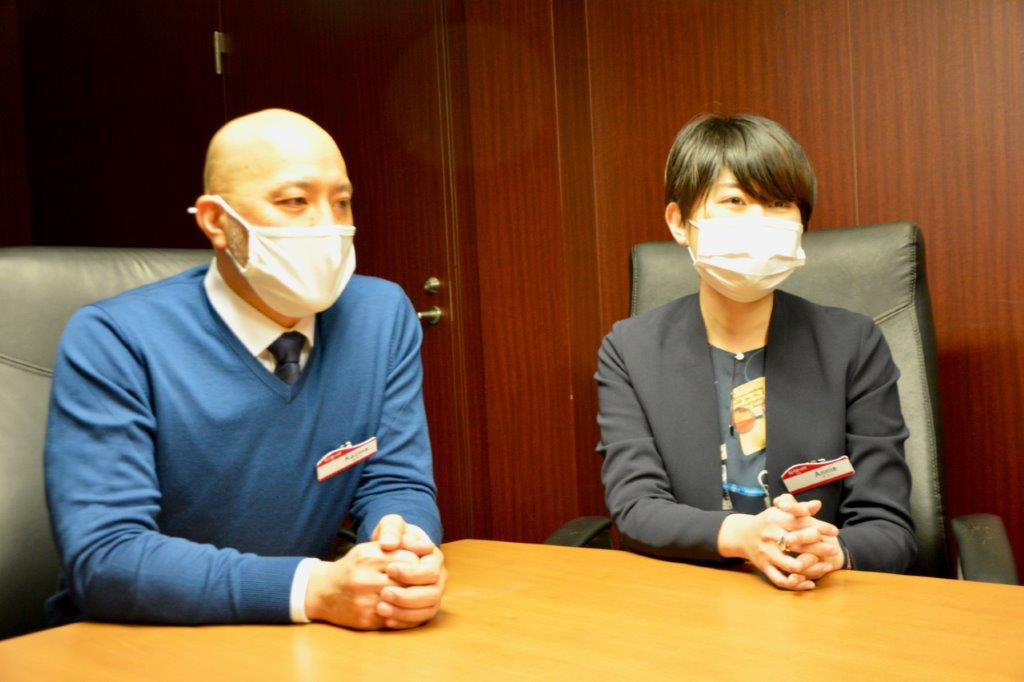 KCJ GROUP 事業開発本部 コンテンツ部 杉原和馬さん(左)、同・小寺 恩さん(右)