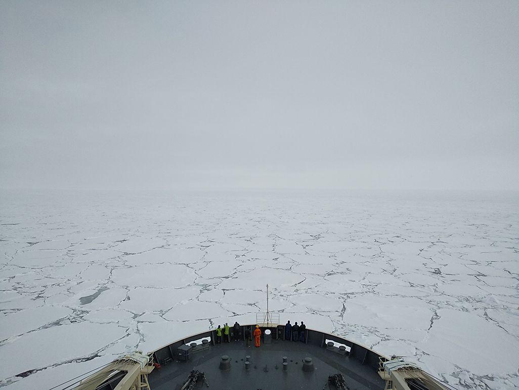南極へ向かうしらせ