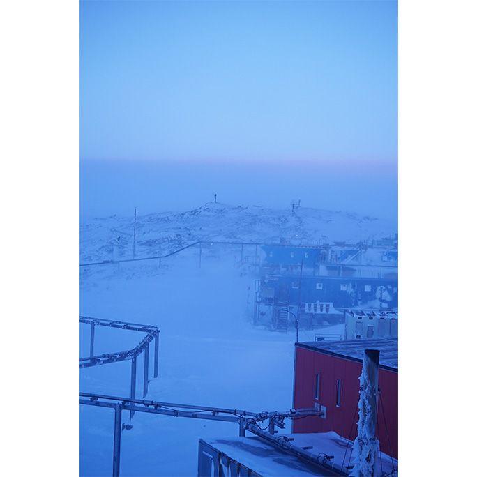 南極のブリザード