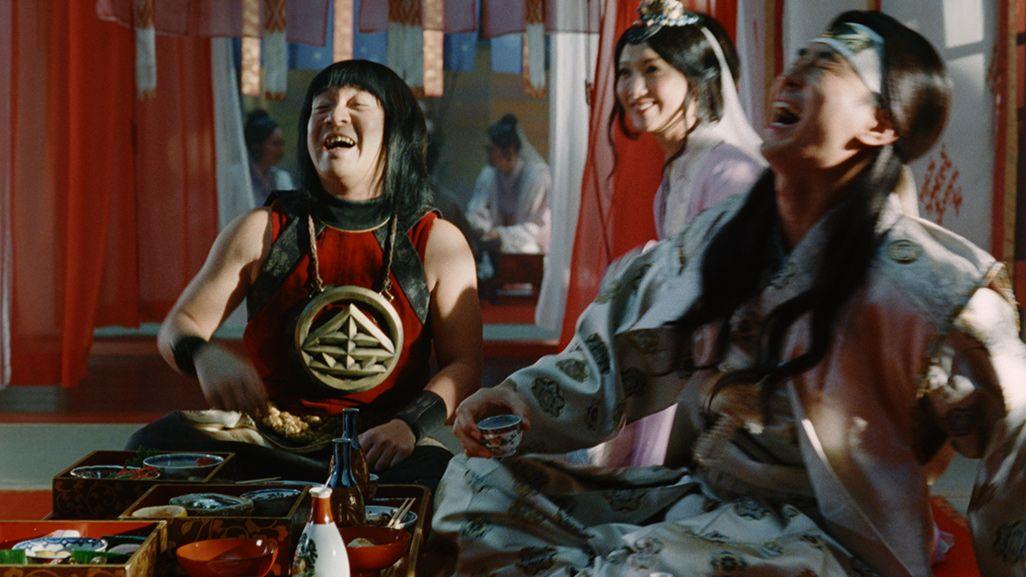 au三太郎2020扉CM笑い転げる桃ちゃんと金ちゃんと乙姫