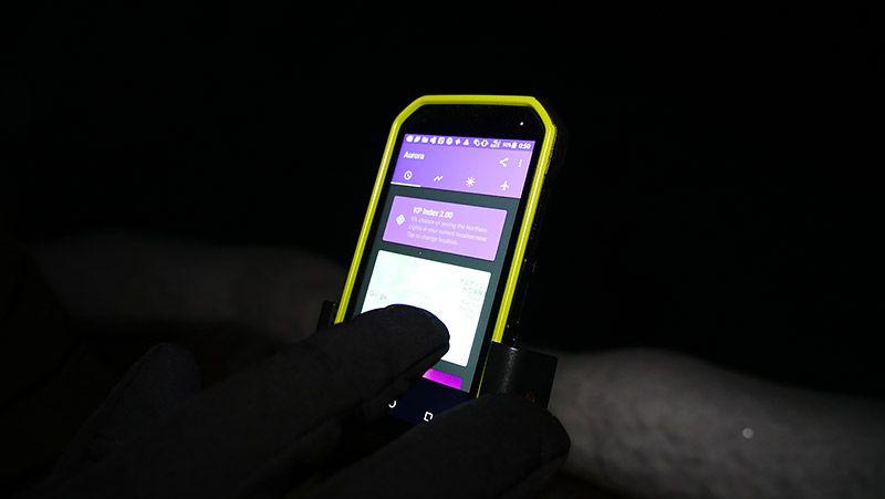 TORQUE G03でオーロラアプリを見る