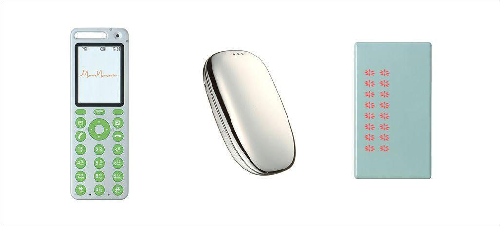 左からtalby(2004年11月)デザイン:マーク・ニューソン、PENCK(2005年2月)デザイン:サイトウマコト、neon(2006年1月)デザイン:深澤直人)